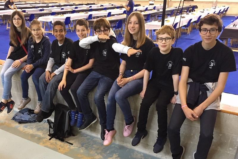 Les 8 joueurs du collège Anne de Bretagne
