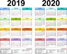 Calendrier 2020 Avec N0 De Semaine.Calendrier Des Semaines 2020